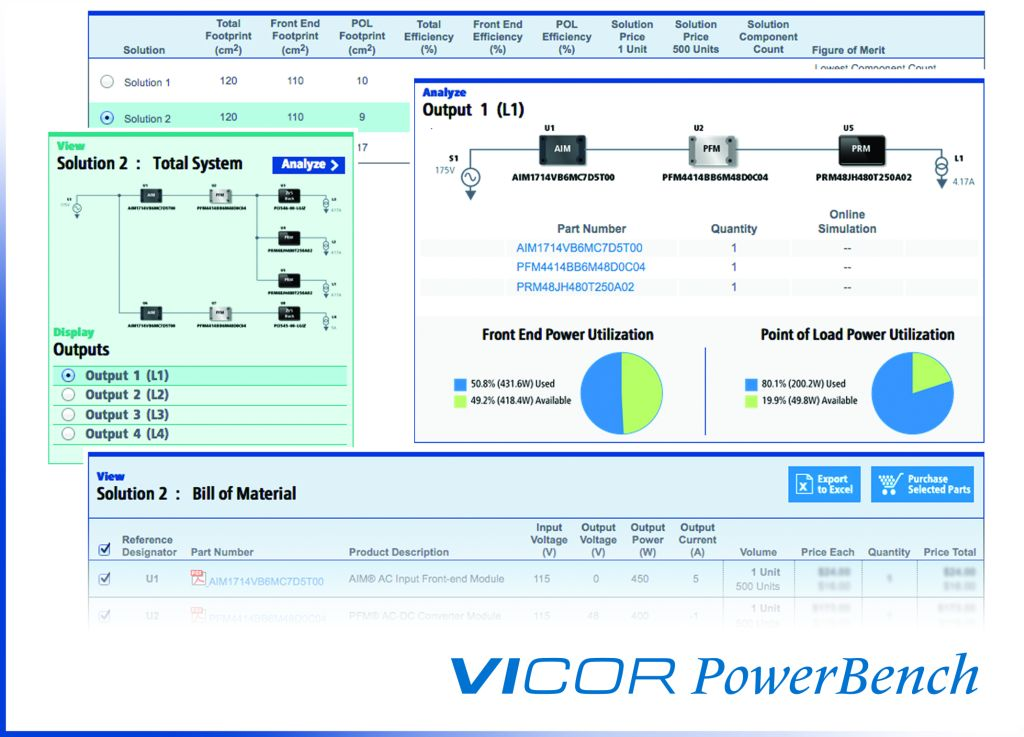 Software configures modular power systems from source to PoL