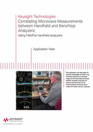 Correlating Microwave Measurements between Handheld and Benchtop Analysers