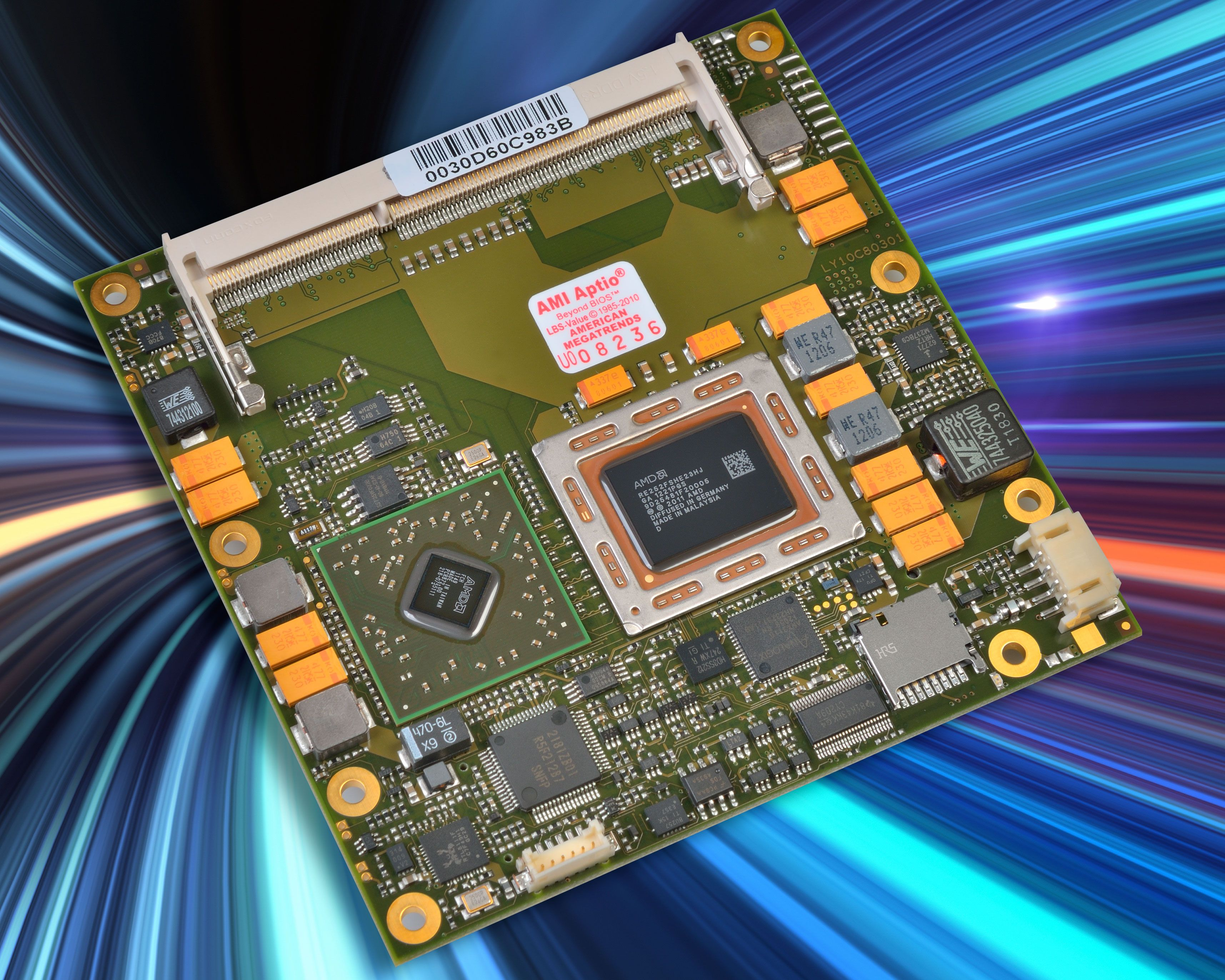 Figure 1: The MSC C6C-A7, a COM Express Type 6 high-performance module family in compact form factor, is based on AMD's Embedded R-Series Accelerated Processing Units (APUs)