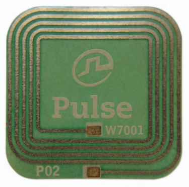 Figure 2 - Pulse Electronics' W7001 is a low-cost, very thin and flexible NFC antenna