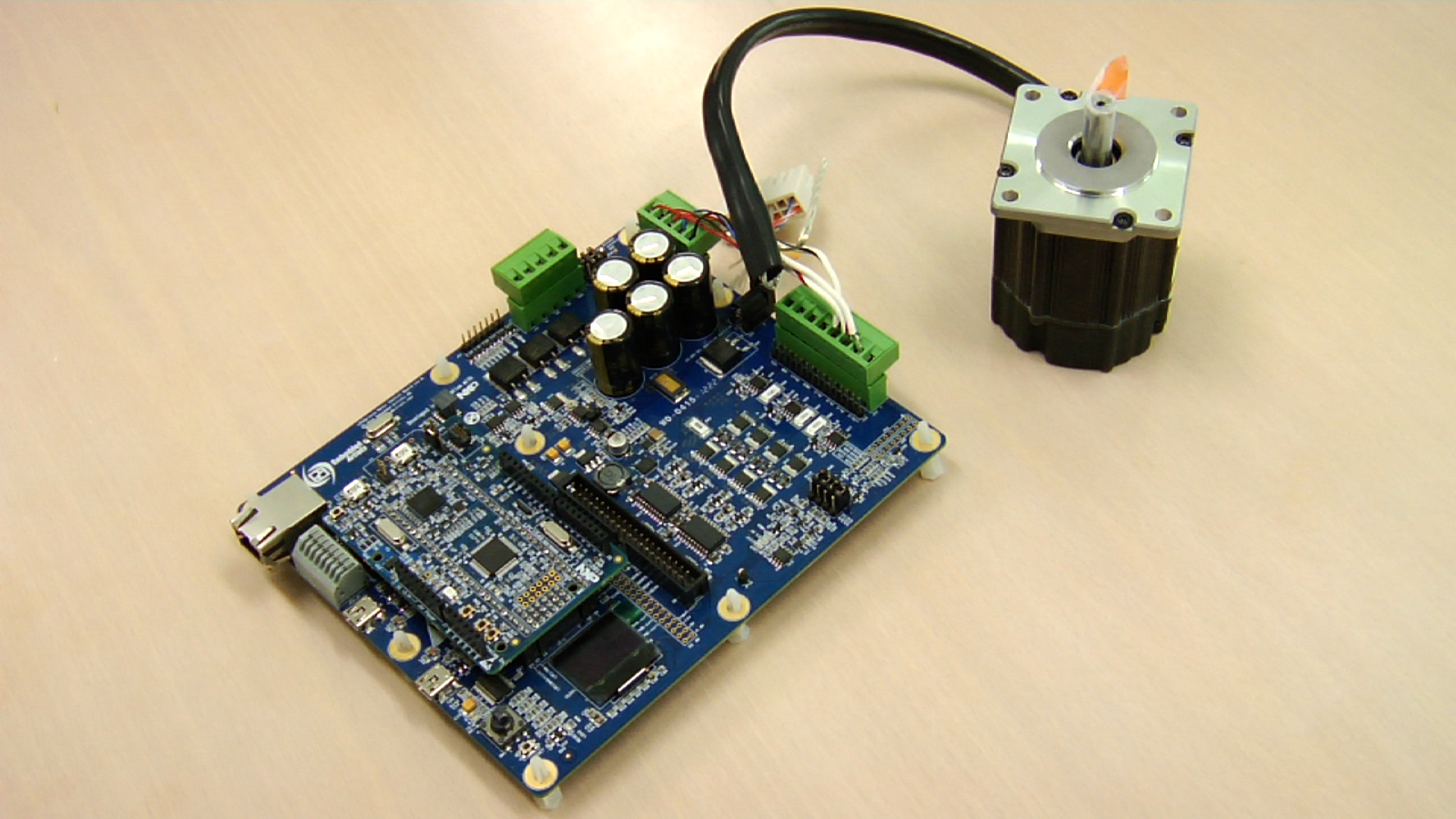 Figure 2 - Two motor control 'solution boards' based on the LCP1500 series are available from NXP, which include baseboards, motor and free firmware.