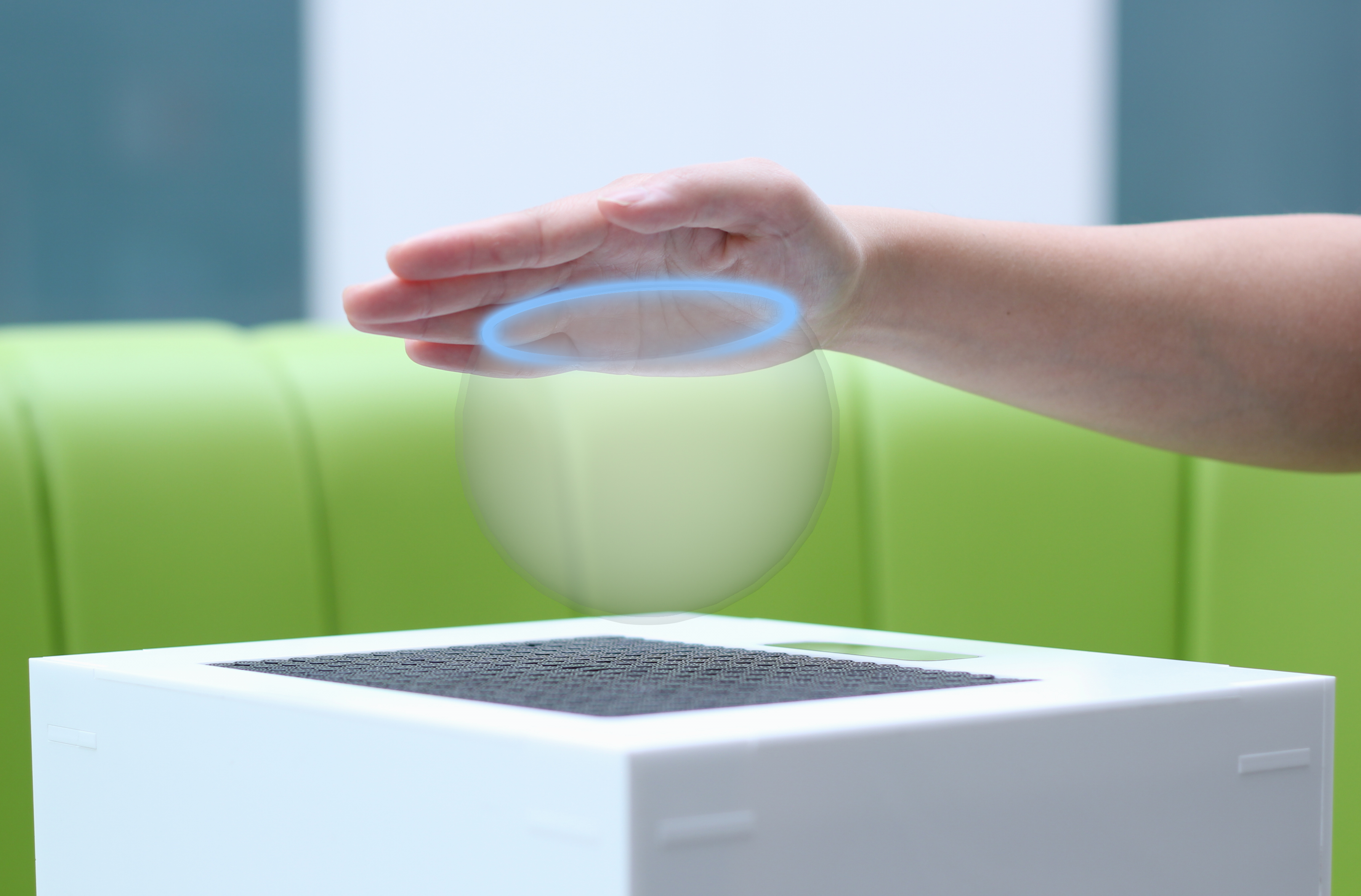Figure 5 - Ultrahaptics' technology lets the user 'feel' virtual objects in mid-air.