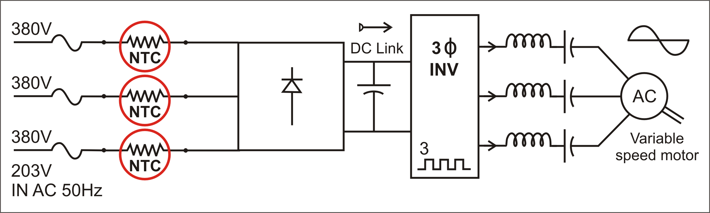 Observing Inrush Current To Avoid Power Conversion Failure Single Phase Variable Frequency Drive Vfd Circuit Diagram Figure 6