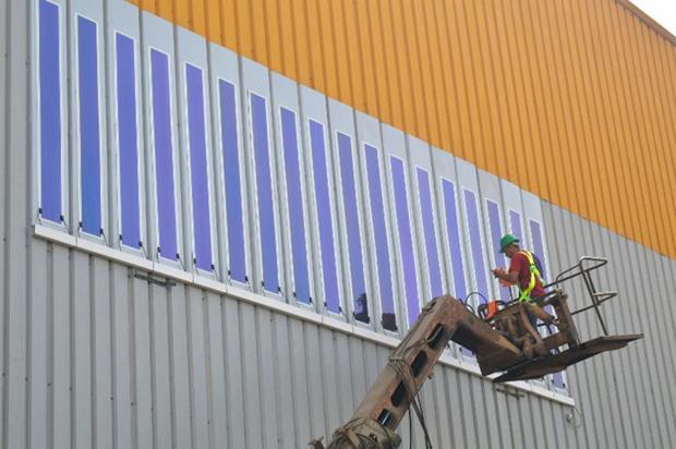 Installation of HeliaFilm on Kandil Steel panels