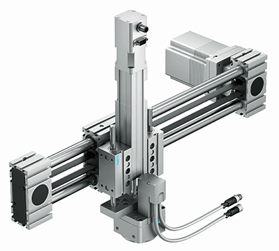 Electric linear gantry YZ with rotary drive