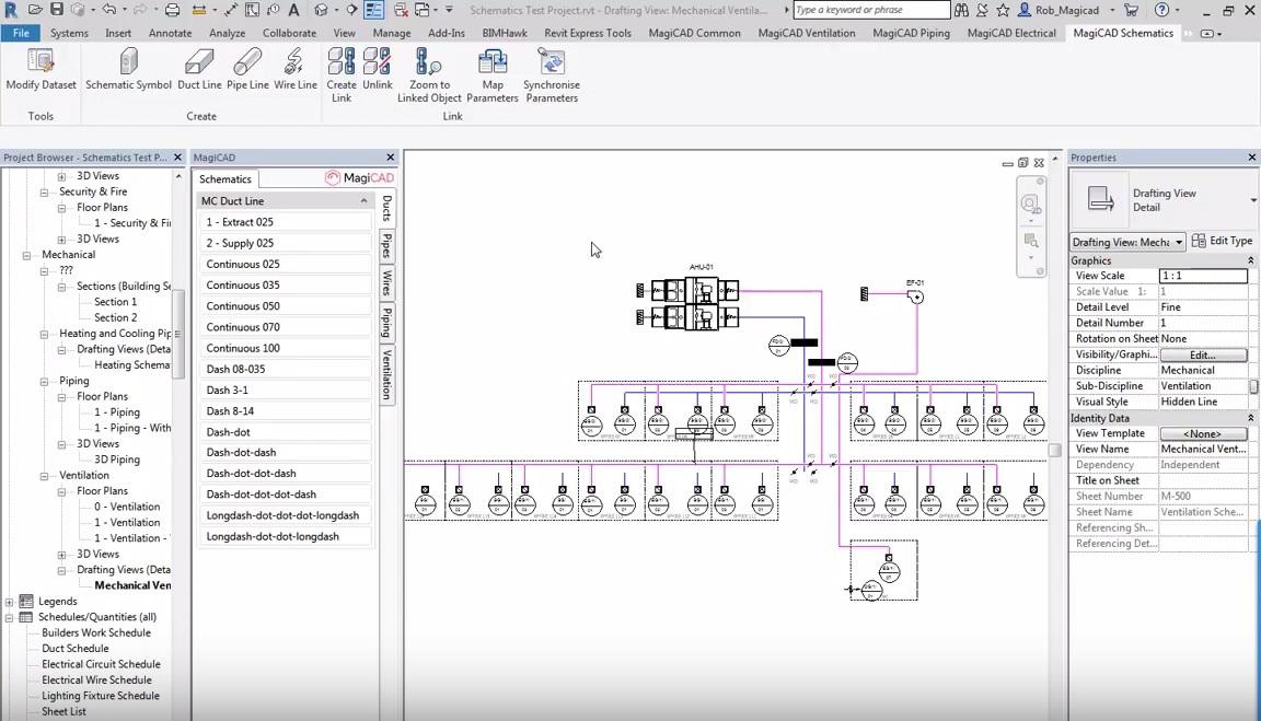 Schematic software aids MEP design