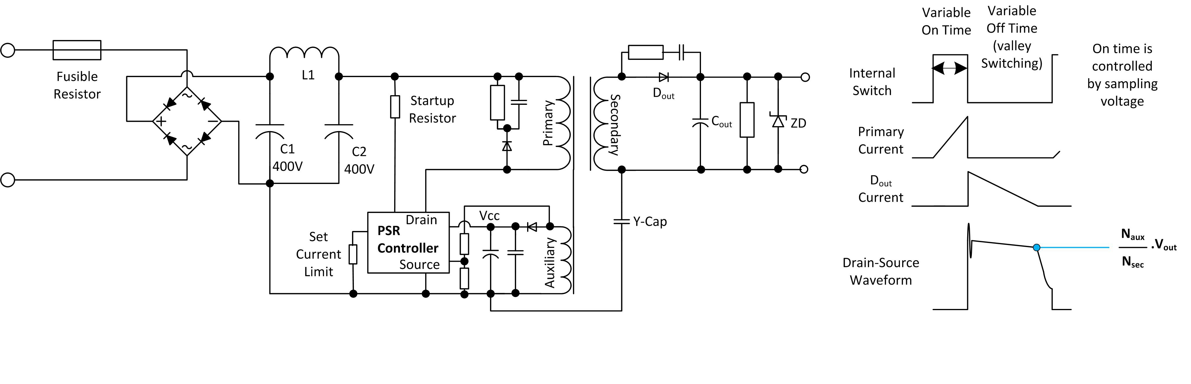 Low Power Ac Dcs In Iot Applications Constantcurrentsourceconverter Basiccircuit Circuit Diagram Figure 3 Primary Side Regulated Dc Converter Schematic