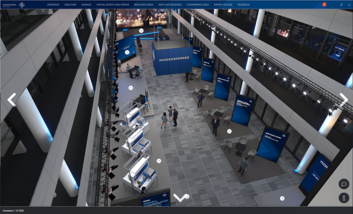 in October, rohde & schwarz held its first digital conference on the ongoing evolution of 5G. The company digitised the atrium of its  Technology Centre to really invite  customers back into Rohde & Schwarz