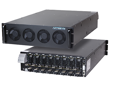 above: Example of an  Artesyn iHP rack