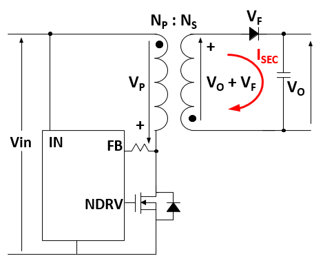 No-opto flyback circuit
