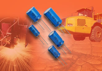 Radial aluminium capacitors operate at +150°C for 2,000hrs