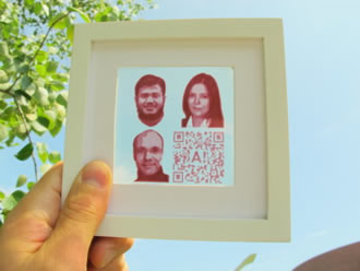 Pictures or texts could be inkjet-printed as solar cells
