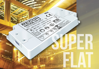 Flat LED drivers useful for furniture and cabinet lighting