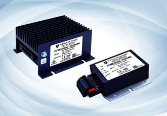 300W DC/DC converters feature base plate cooling