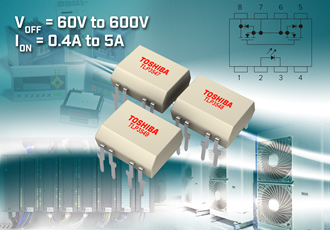 Photorelays with 5A drive current for replacing mechanical relays