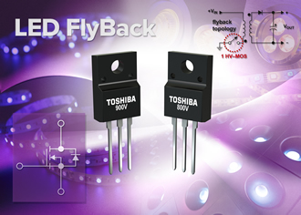 800 & 900V MOSFETs suit high-speed switching below 5A