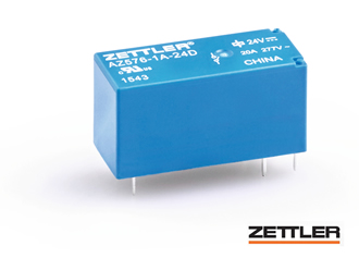 Miniature, 20A power relay operates up to +105°C