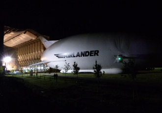 The world's largest aircraft comes out to play