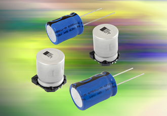 Aluminium capacitors offer vibration resistance to 50g
