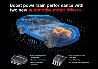 Automotive motor drivers boost powertrain performance