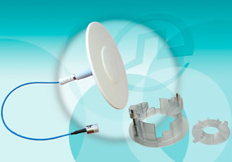 Ceiling-mount, omni-directional antennas available in white