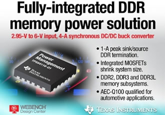 DDR buck converter is industry's first fully integrated power solution