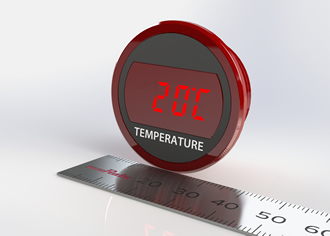 Digital thermometer uses NTC thermistor for sensing