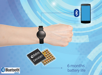 Bluetooth smart SoC provides connectivity for fitness tracker