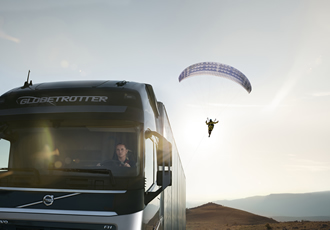 Live test featuring truck and paraglider to be premiered