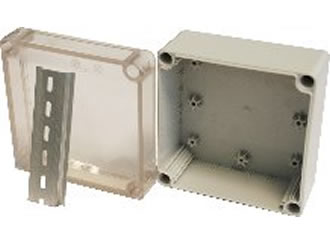 Enclosure features 35mm DIN Rail to protect delicate electrics