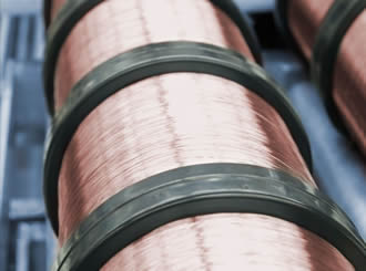 Wires enable good electrical conductivity & high tensile strength