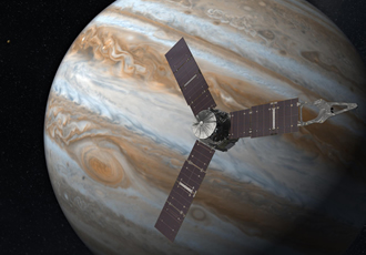 Jupiter probe arrives intact & starts sending data