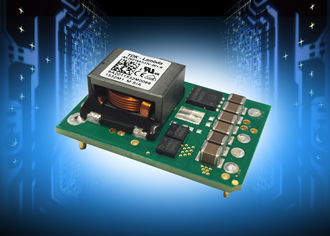 250W DC/DC converters have a wide 3.3 to 24V output adjustment range