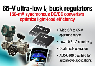 Converters offer industry low 10.5µA quiescent current