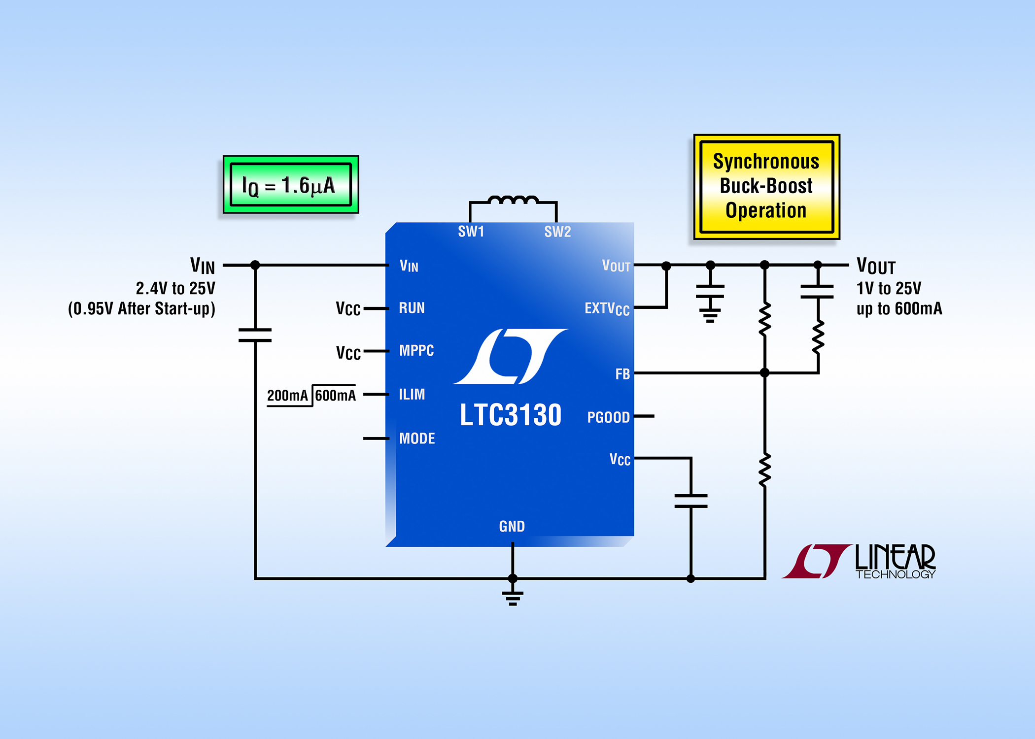 15vin 25a Synchronous Buck Boost Dc Converter Features Of A With External Mosfet For Short Circuit Protection Similar Articles