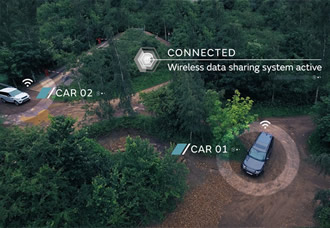 Off-road connected vehicles communicate with each other