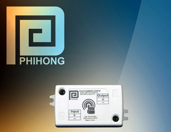 Touch operated dimming control for LED lighting