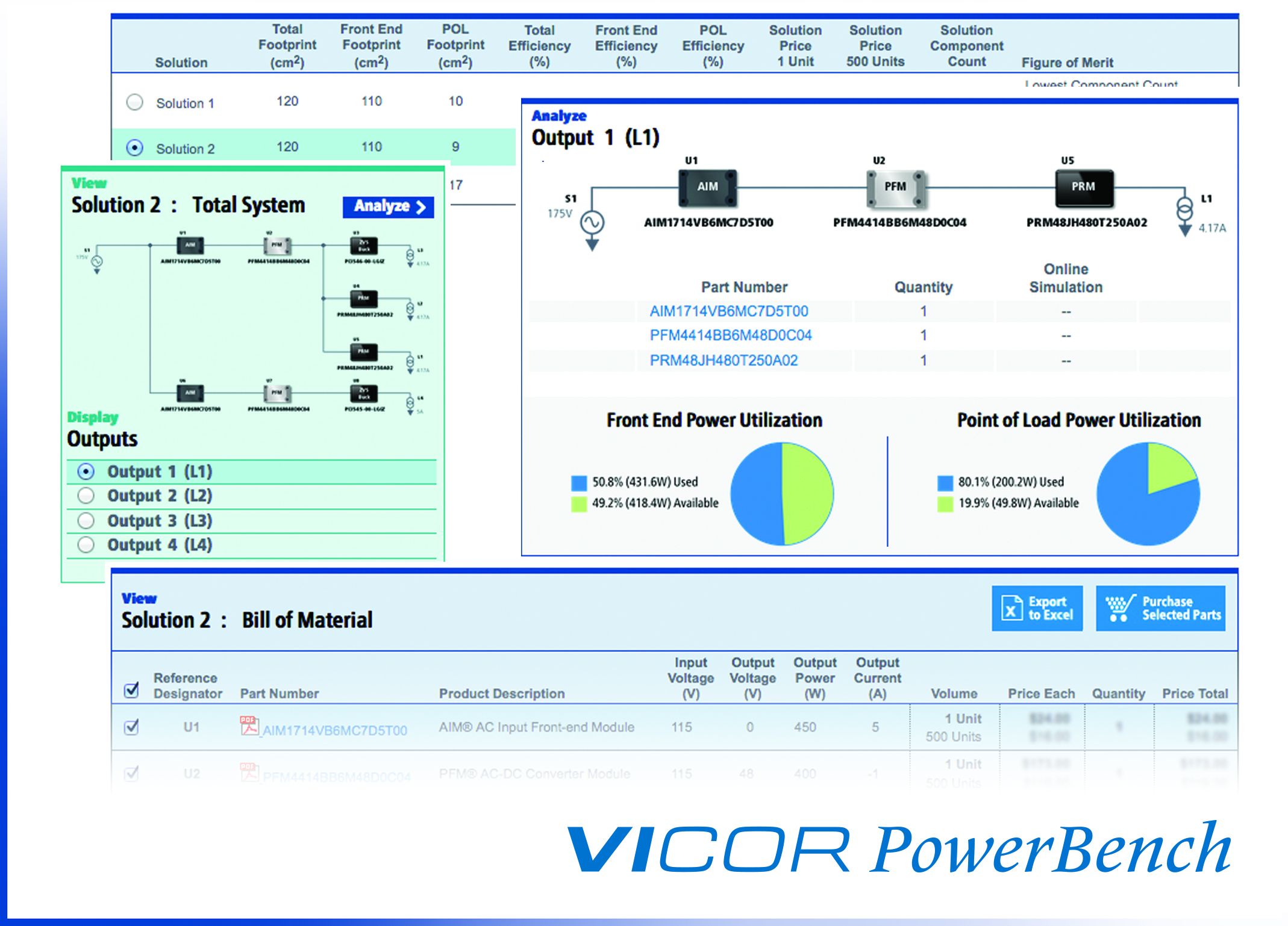 Software configures modular power systems from source to pol for Online software design tool