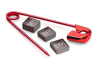 Power inductors are optimised for high frequency applications