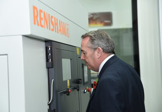 Senior UK Minister visits Renishaw during India-UK TECH Summit