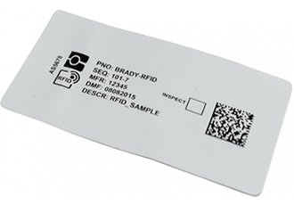Thin RFID label suitable for non-metal surfaces