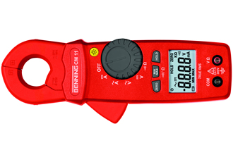 RMS clamp multimeter enables fine resolution measurements