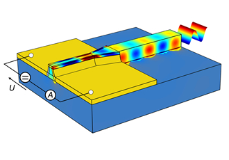 Smallest photodetector for optical data transmission