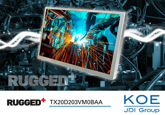 TFT display offers high image quality at any viewing angle