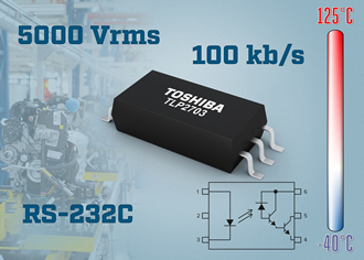Photocouplers support signal transfer up to 100kb/s