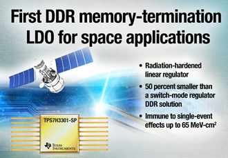 The space industry's first DDR memory linear regulator