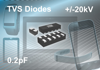 TVS diodes deliver low capacitance & low dynamic resistance