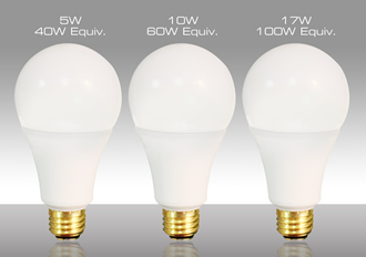 Three-way LED lamp suits incandescent replacement