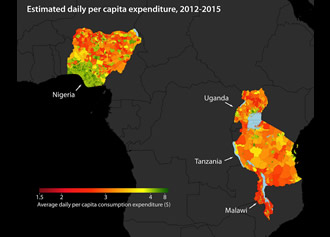 Satellite data and machine learning to map poverty