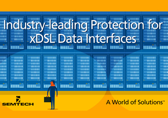 Transient protection array safeguards xDSL interfaces